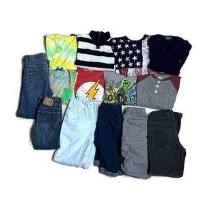 14 Pcs Boys Size 6-8 Fall Winter Clothes bundle